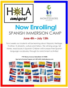 SPANISH IMMERSION CAMP 2018 ad